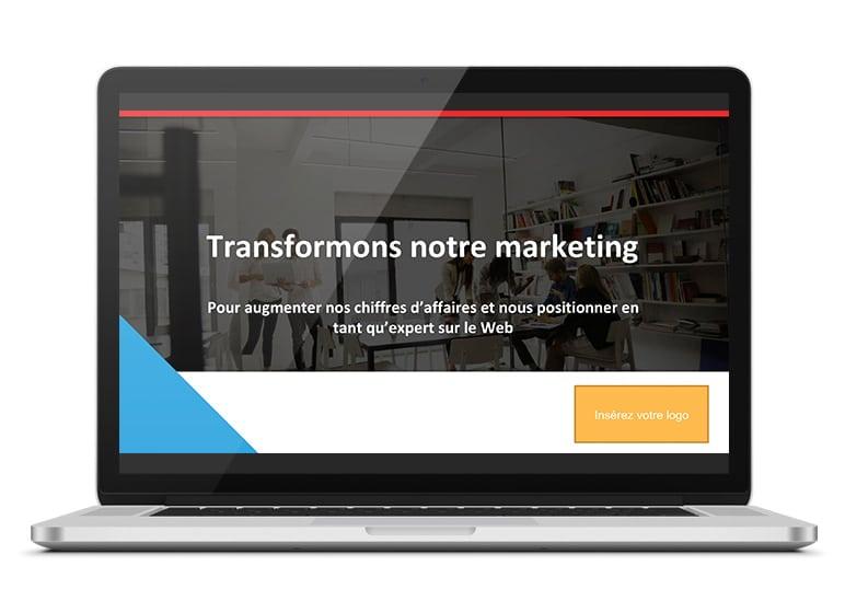Présentation à personnaliser pour faire adopter le marketing Web à votre équipe